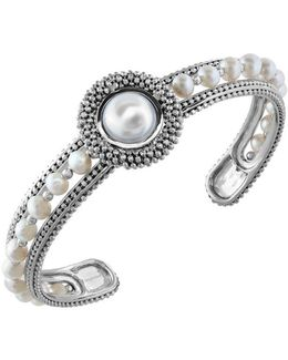 Final Call 10/4mm White Pearl & Sterling Silver Bracelet