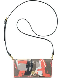 Brushstroke Crossbody Wallet