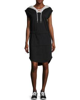 Sleeveless Hoodie Dress