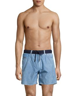 Keeki Cotton-blend Swim Trunks