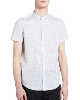 Short Sleeve Geo Button-down Top