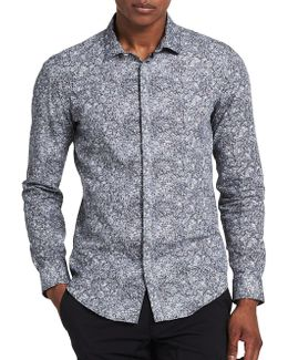 Slim-fit Abstract Print Sportshirt