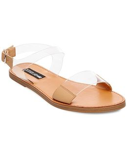 Lucy Lucite Sandals