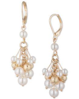 Cluster 4/5/6mm Faux Pearl Stud Earrings