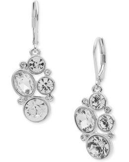 Glass Stone Chandelier Earrings