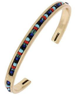 Kaleidoscope Delicates Woven Mixed Multi-colored Bead Cuff Bracelet