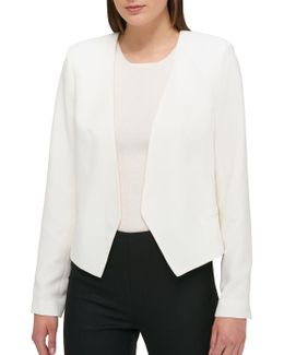 Solid Open-front Jacket
