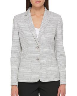 Striped Button Front Blazer