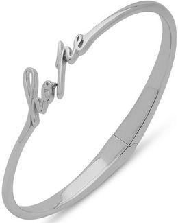 Sterling Silver Hope Hinged Bangle Bracelet