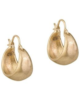 Wide Scooped Hoop Earrings/ 1-inch