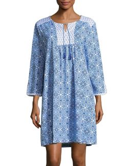Medallion Print Nightgown