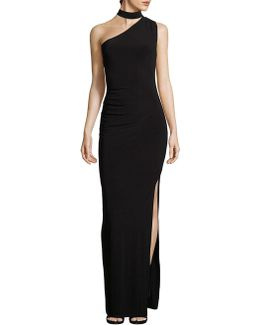 Choker One-shoulder Gown