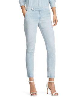 Denim High-rise Straight Pants