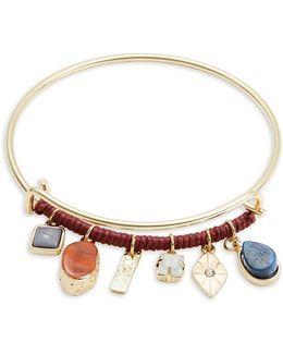 Stone Charm Beaded Bracelet
