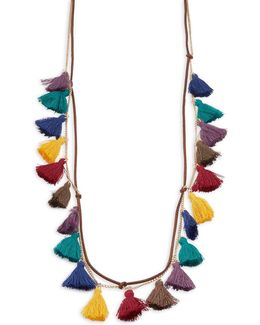 Tassel Accented Necklace