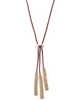 Fringe Accented Corded Y-necklace