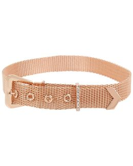 Brooklyn Mesh Buckle Choker Necklace