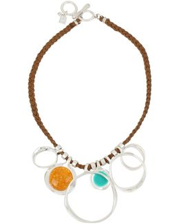 Color Wheel Amber Pendant Necklace
