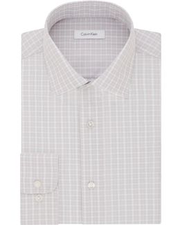 Regular-fit Plaid Cotton Dress Shirt