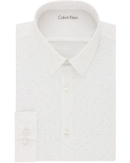 Extreme Slim-fit Dotted Dress Shirt