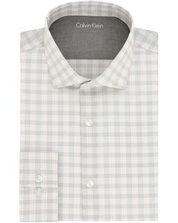 Slim-fit Plaid Dress Shirt