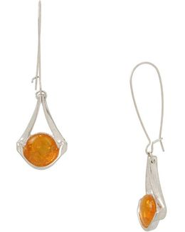 Color Wheel Amber Drop Earrings