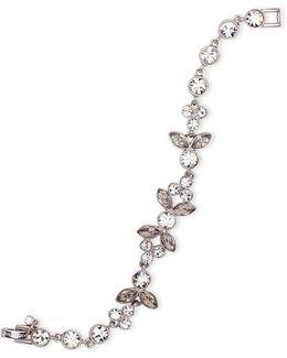 Crystal Studded Floral Flex Bracelet