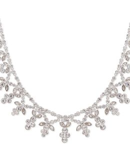 Crystal Studded Pendant Collar Necklace