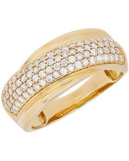 Diamond And 14k Yellow Gold Ring, 0.50 Tcw