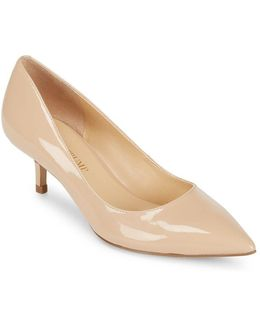 Athyna Leather Closed Toe Pumps