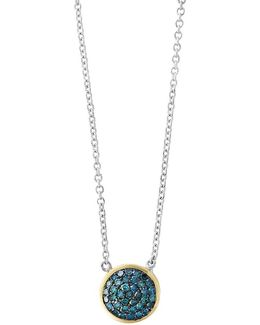 14k Yellow Gold And 925 Sterling Silver Necklace