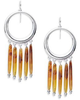 Fringe Hoop Drop Earrings