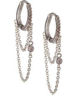 Cubic Zirconia Hinged Huggie Earrings