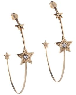 Cubic Zirconia Stars Hoop Earrings