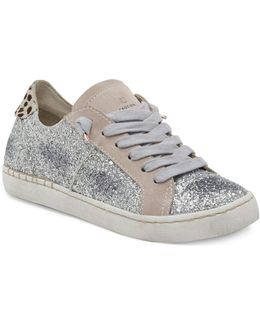 Z-glitter Lace-up Sneakers