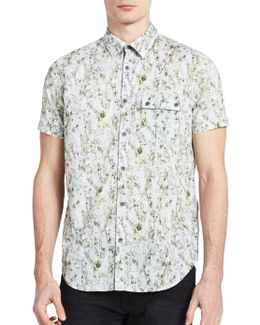 Patterned Short Sleeve Sportshirt