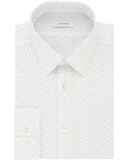 Slim-fit Printed Cotton Dress Shirt