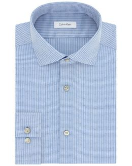 Slim-fit Plaid Cotton Dress Shirt