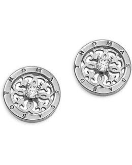 Sterling Silver Scrollwork Stud Earrings