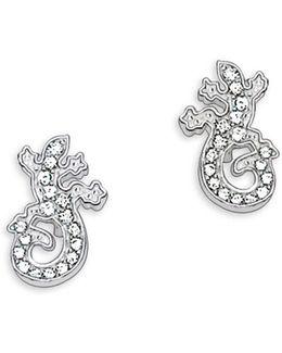 Sterling Silver Salamander Stud Earrings