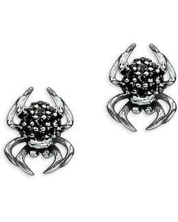 Spider Sterling Silver Stud Earrings