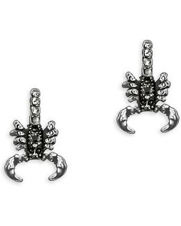 Sterling Silver Scorpion Stud Earrings