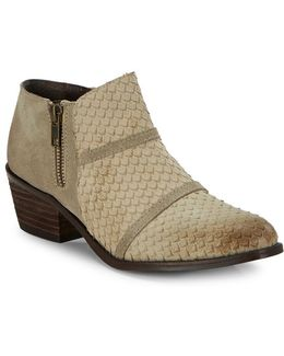 Almond-toe Leather Ankle Boots