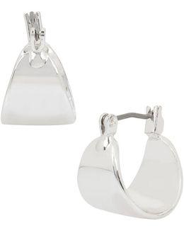 """Metal Scale Huggie Hoop Earrings/0.5"""""""