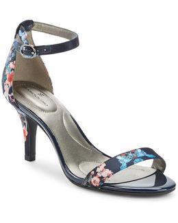 Madia Floral Textile Sandals