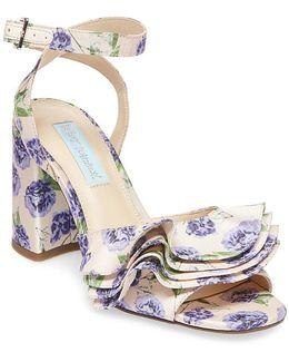 Blue By Flirt Floral-print Sandals