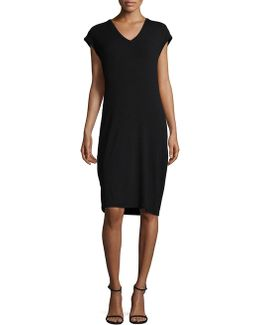 Ribbed-knit Sheath Dress