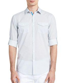 Geometric-print Long Sleeve Shirt