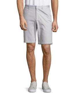 10in Cotton Oxford Grosgrain Shorts
