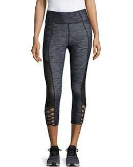 Crisscross Cropped Active Pants